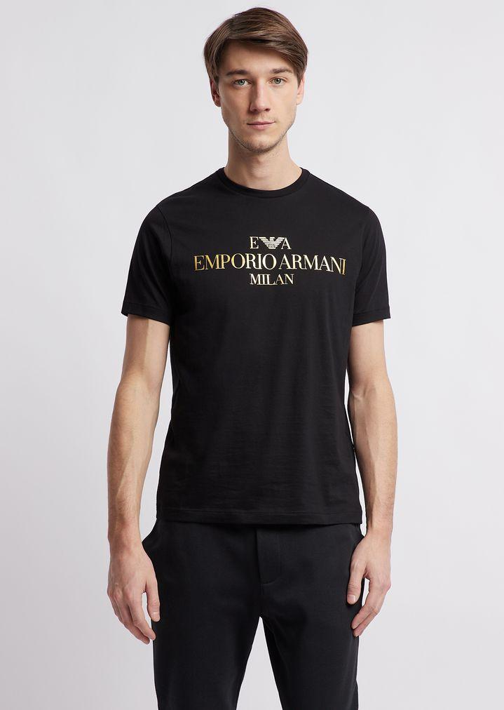 68e89a5590d2 Slim-fit pima cotton T-shirt with logo print
