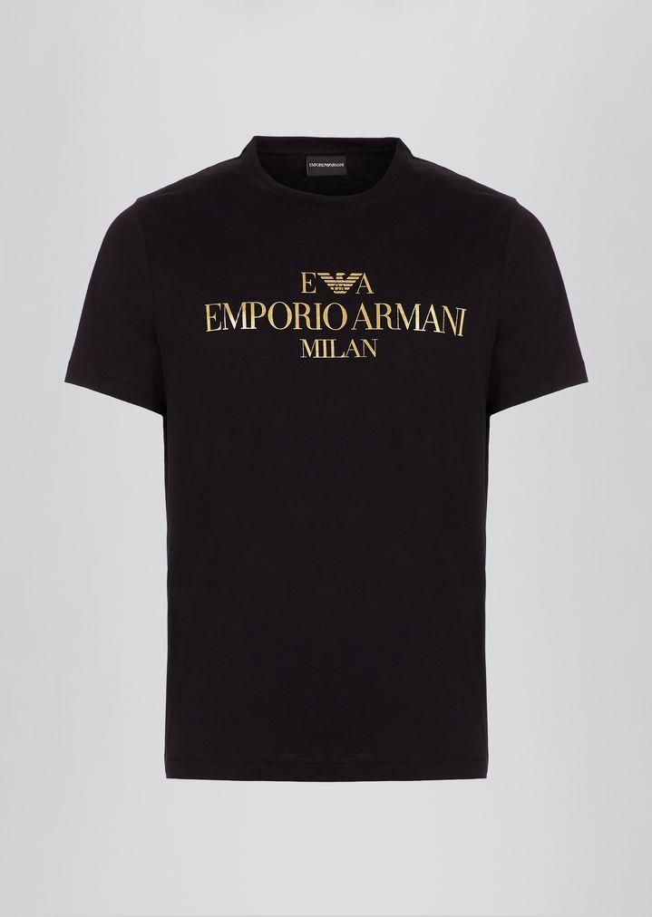 109852cfc69f Slim fit pima cotton T-shirt with logo print
