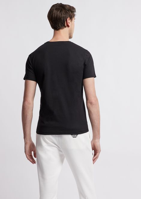 Lightweight cotton jersey T-shirt with logo