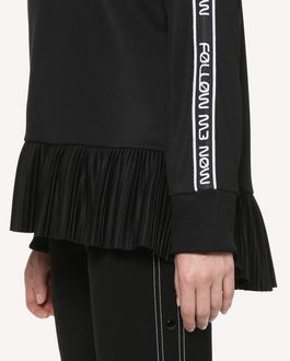 "REDValentino ""Follow Me Now"" sweatshirt with ribbon detail"