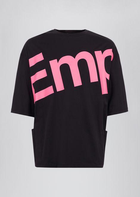 Camiseta de algodón con estampado de logotipo