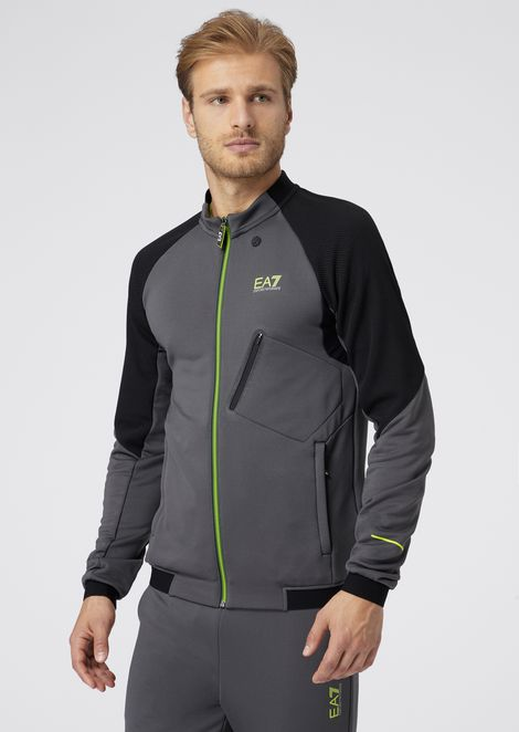 Vigor7 sweatshirt in technical fabric with reflective details