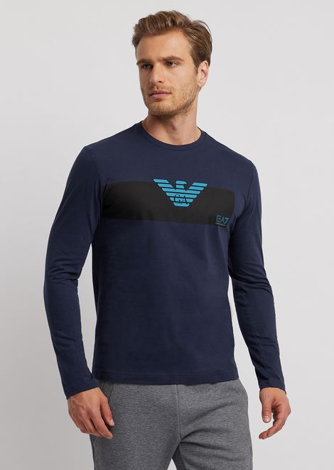 Long-sleeve garment with printed logo