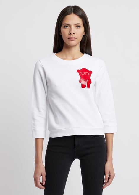 Brushed cotton Manga Bear sweatshirt