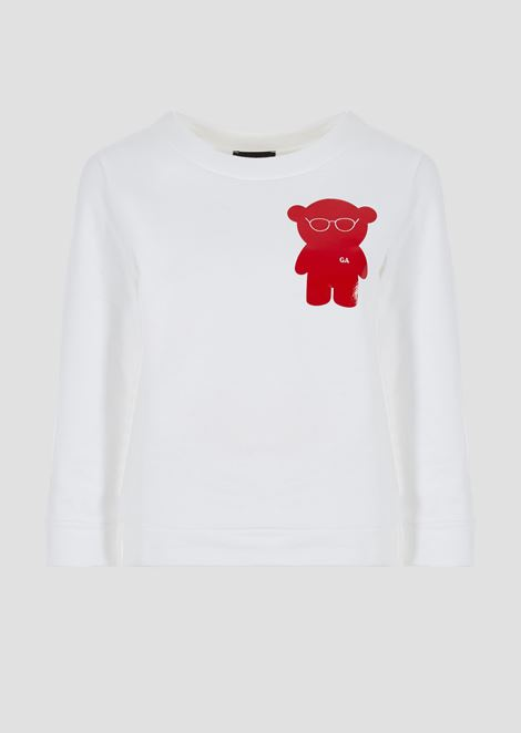 Brushed cotton Manga Bear sweatshirt