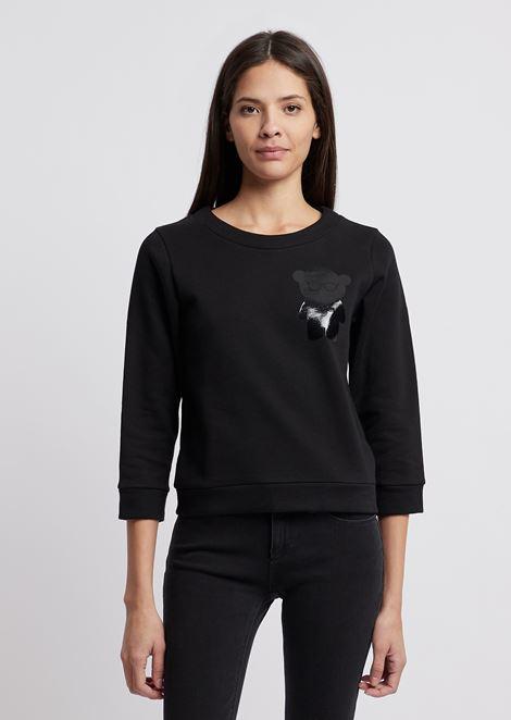 スウェットシャツ ブラッシュドコットン製 マンガベア