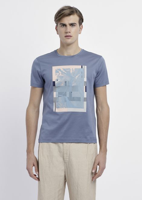 Pure cotton T-shirt with graphics