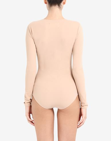 TOPS & TEES Long sleeve jersey bodysuit Beige