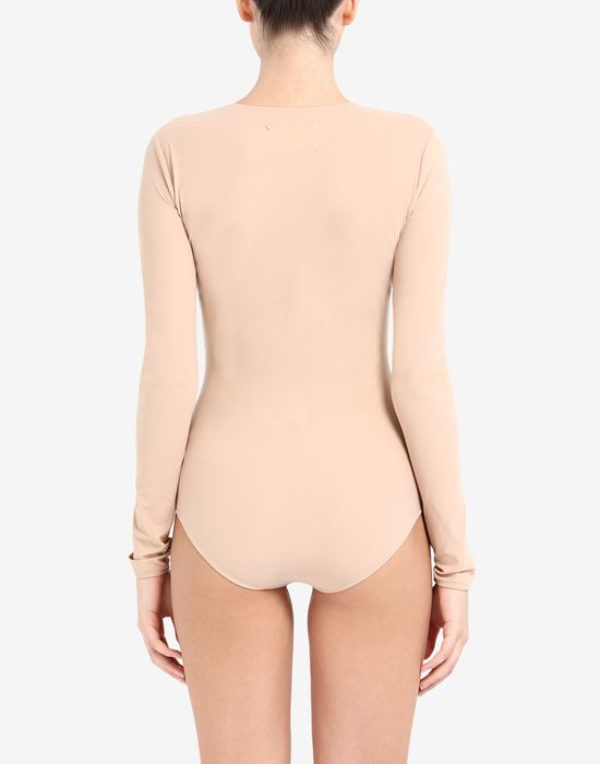 MAISON MARGIELA Long sleeve jersey bodysuit Body [*** pickupInStoreShipping_info ***] e
