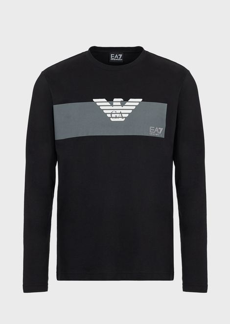 Long-sleeve T-shirt with printed logo
