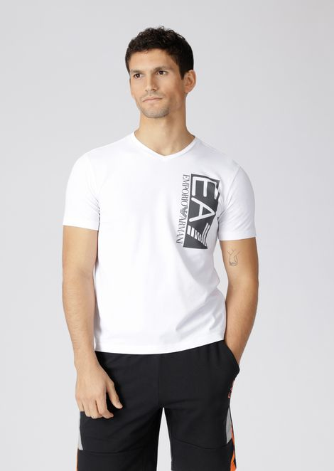 Stretch cotton Train Visibility T-shirt with logo