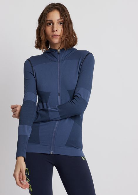 Stretch fabric 7.0 sweatshirt with hood