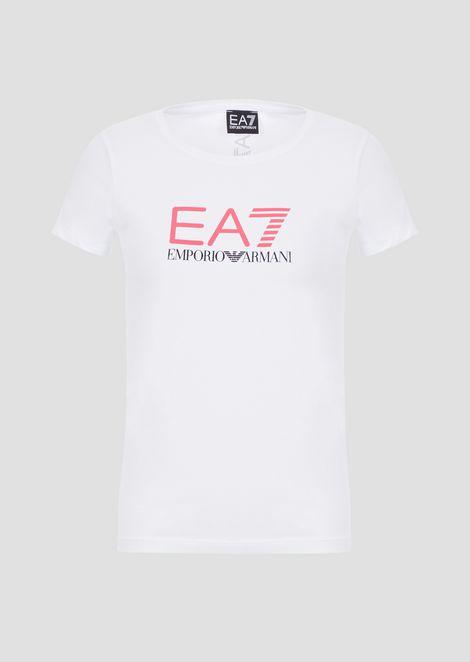 Tシャツ コットン&ポリエステル製 EA7ロゴプリント入り