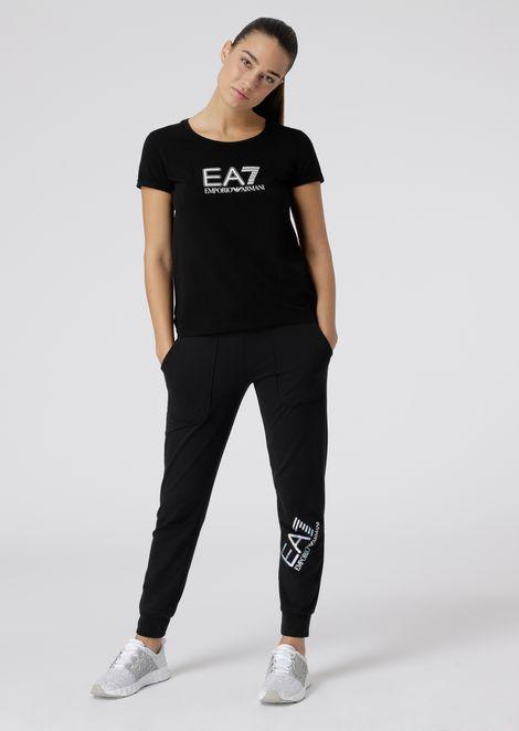 Tシャツ ストレッチジャージー製 スタッズ装飾ロゴ