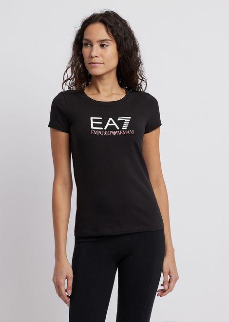 Tシャツ ストレッチジャージー製 コントラストロゴ