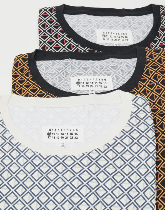 MAISON MARGIELA 3-pack Stereotype Diamond microprint T-shirt Short sleeve t-shirt [*** pickupInStoreShippingNotGuaranteed_info ***] d