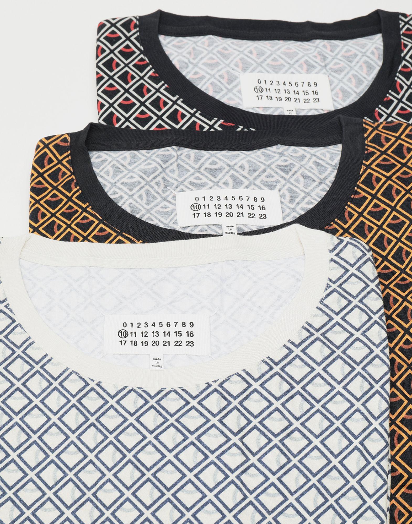 MAISON MARGIELA 3-pack Stereotype Diamond microprint T-shirt Short sleeve t-shirt Man d