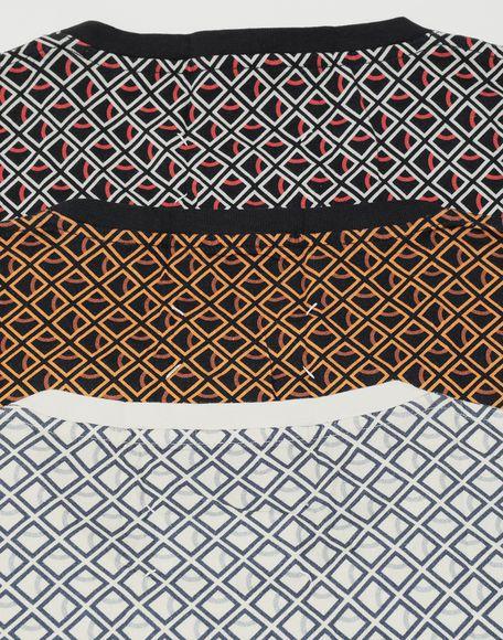 MAISON MARGIELA 3-pack Stereotype Diamond microprint T-shirt Short sleeve t-shirt Man a
