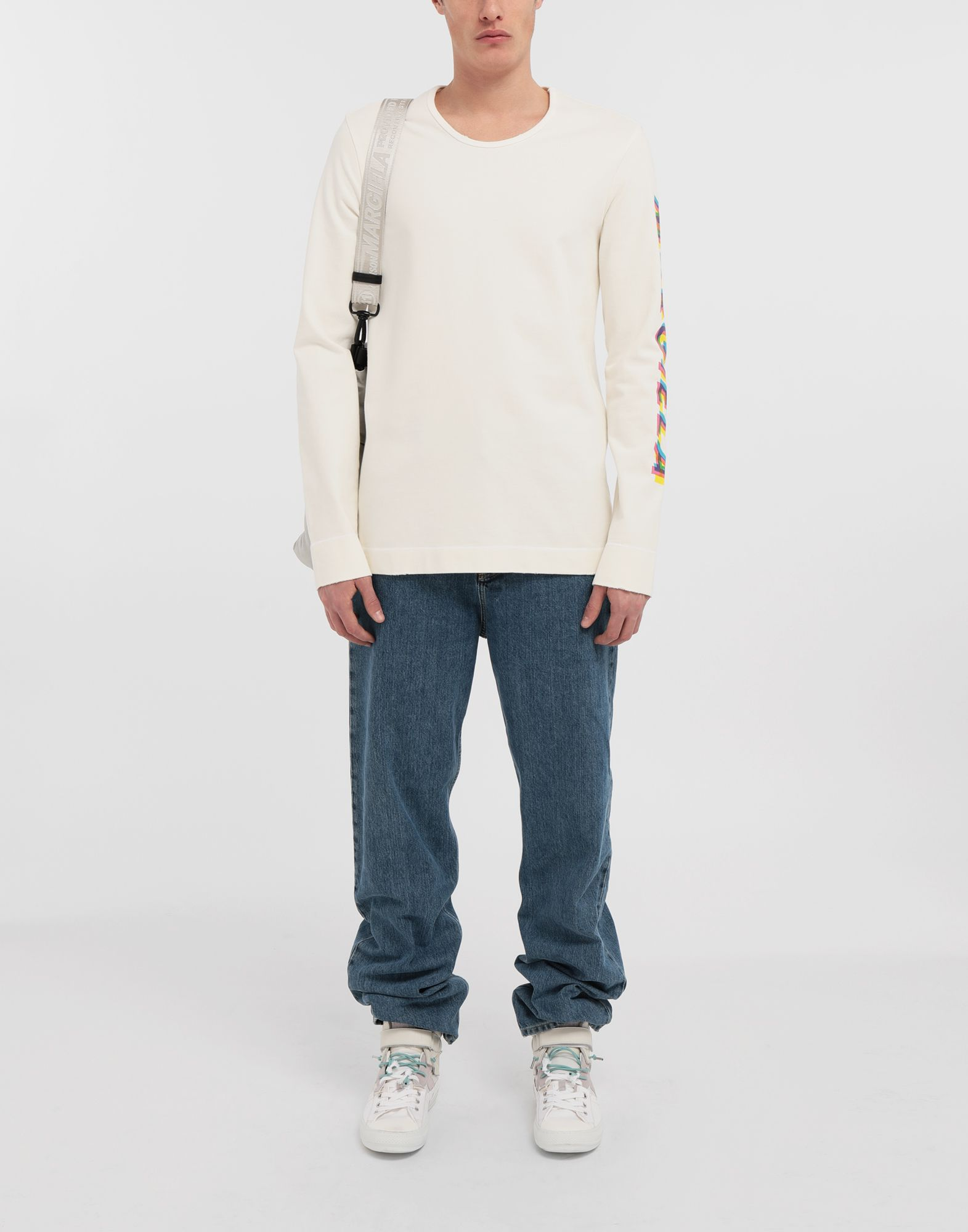 MAISON MARGIELA Logo print pullover Long sleeve t-shirt Man d