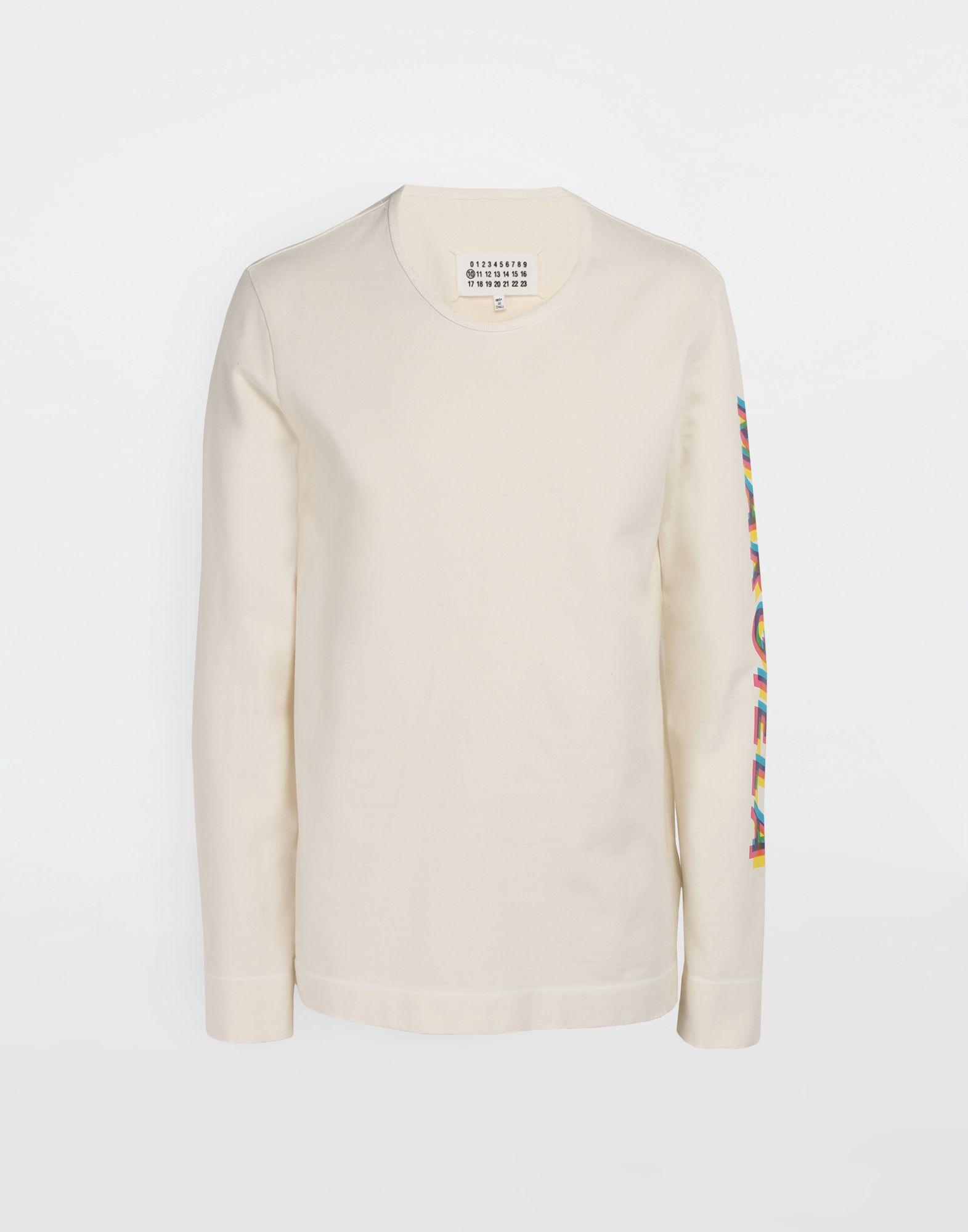 MAISON MARGIELA Logo print pullover Long sleeve t-shirt Man f