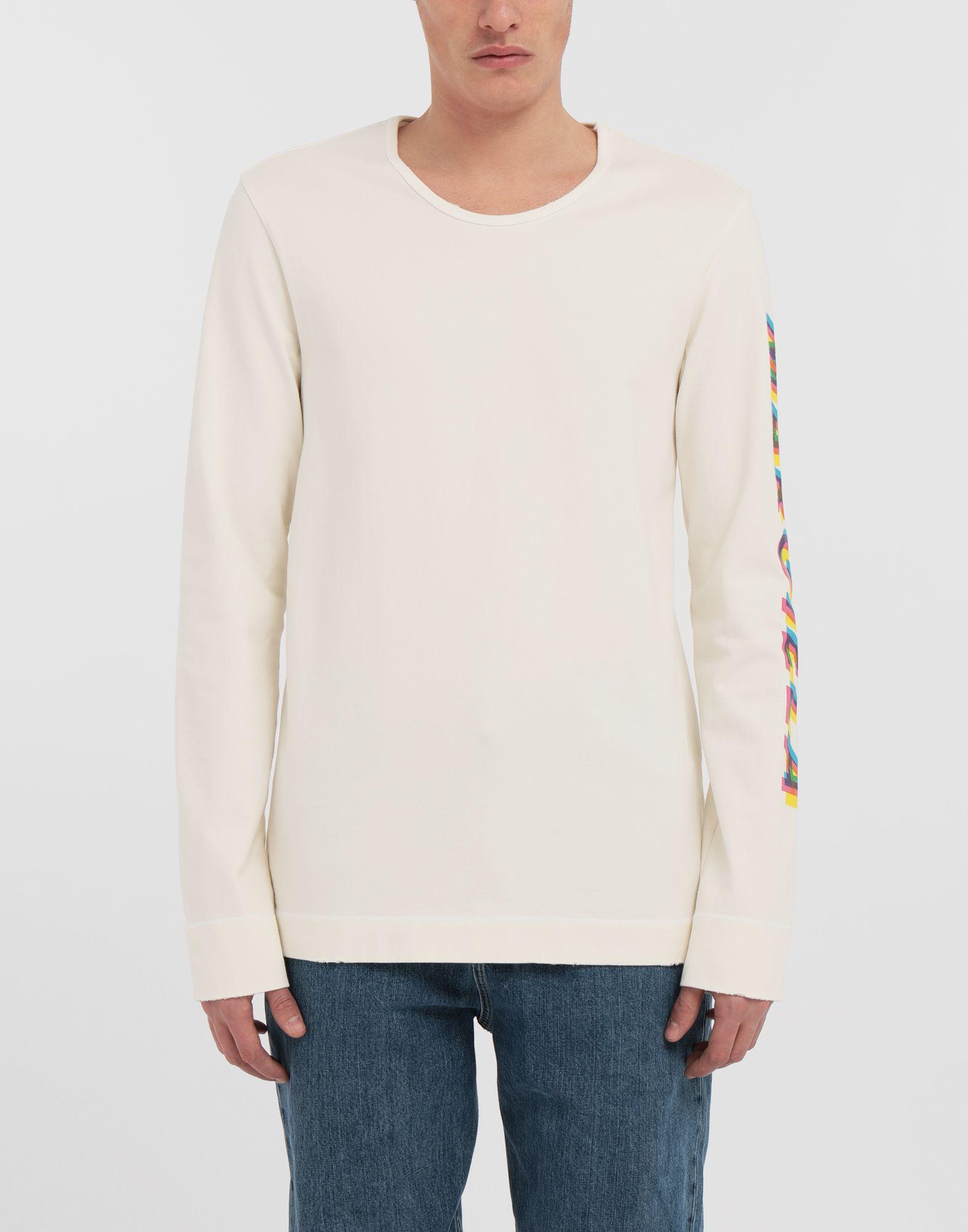 MAISON MARGIELA Logo print pullover Long sleeve t-shirt Man r