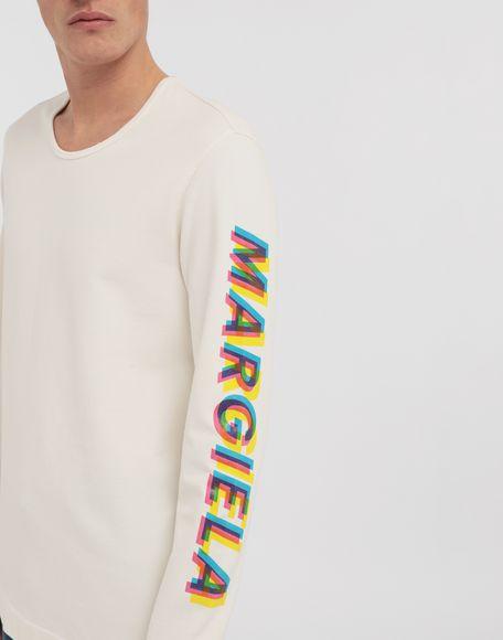 MAISON MARGIELA Logo print pullover Long sleeve t-shirt Man a