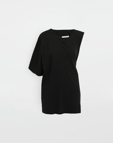 MM6 MAISON MARGIELA Short sleeve t-shirt [*** pickupInStoreShipping_info ***] Asymmetrical jersey shirt f