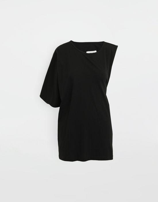 MM6 MAISON MARGIELA Asymmetrical jersey shirt Short sleeve t-shirt [*** pickupInStoreShipping_info ***] f