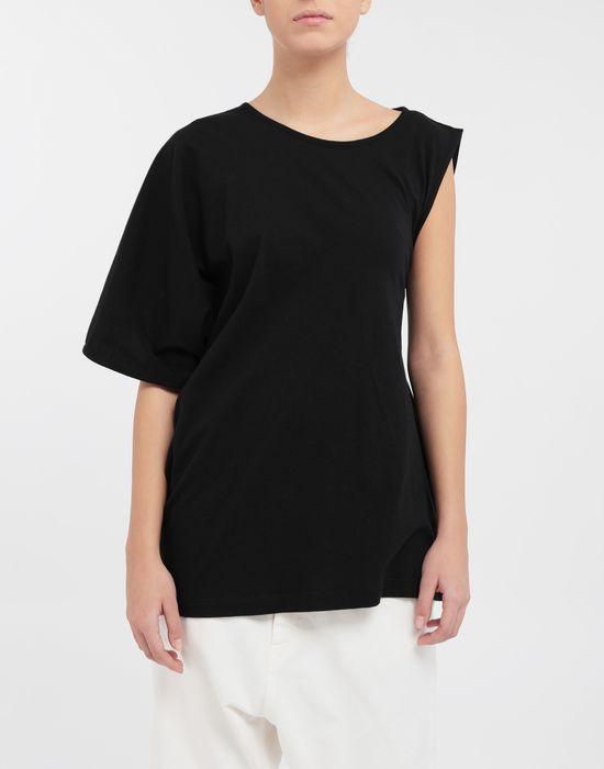 MM6 MAISON MARGIELA Asymmetrical jersey shirt Short sleeve t-shirt [*** pickupInStoreShipping_info ***] r