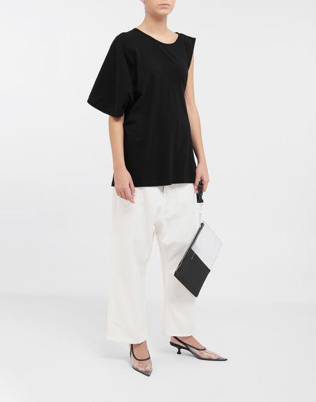 MM6 MAISON MARGIELA Asymmetrical jersey shirt Short sleeve t-shirt Woman d