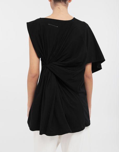 MM6 MAISON MARGIELA Asymmetrical jersey shirt Short sleeve t-shirt Woman e