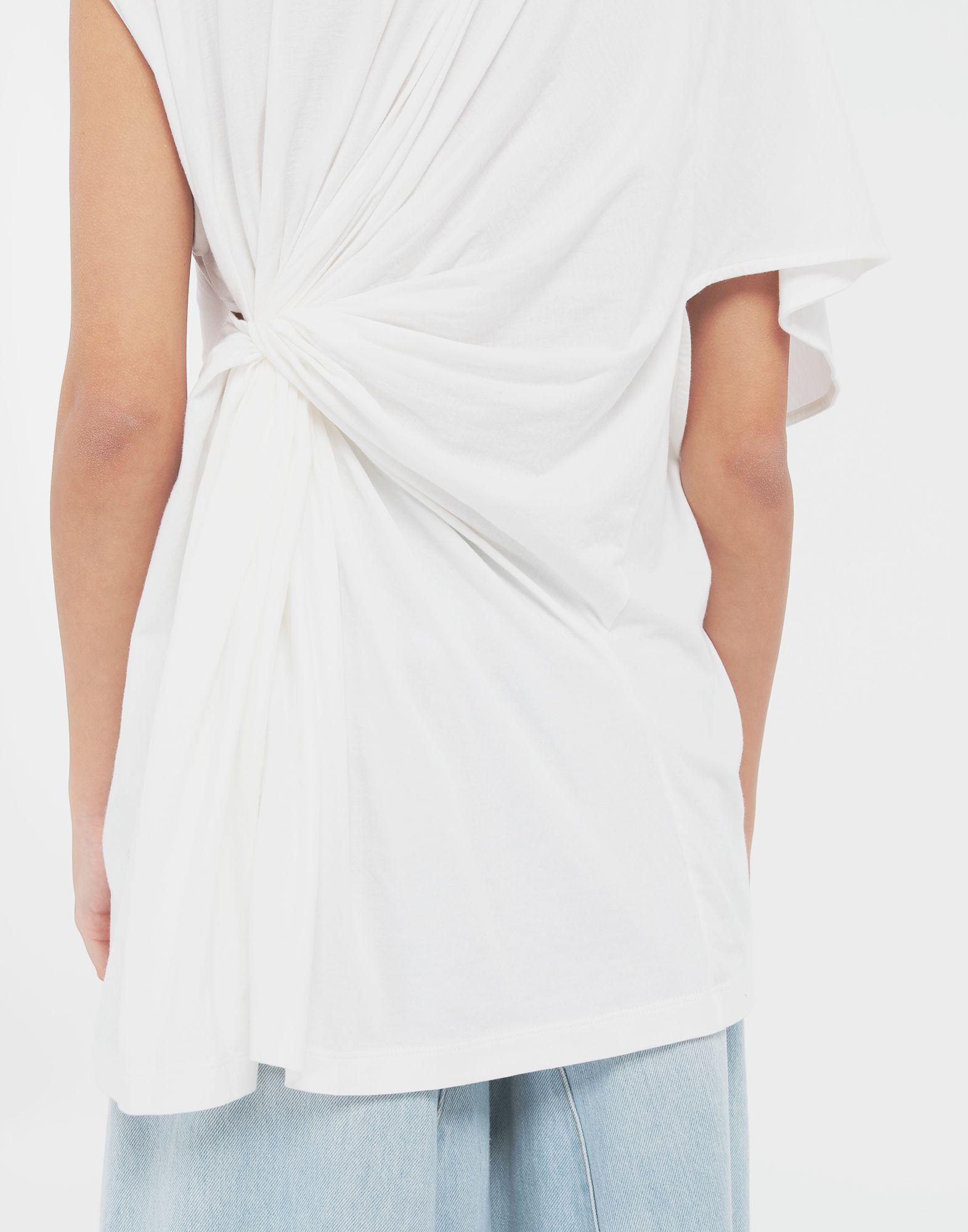 MM6 MAISON MARGIELA Asymmetrical jersey shirt Short sleeve t-shirt Woman b