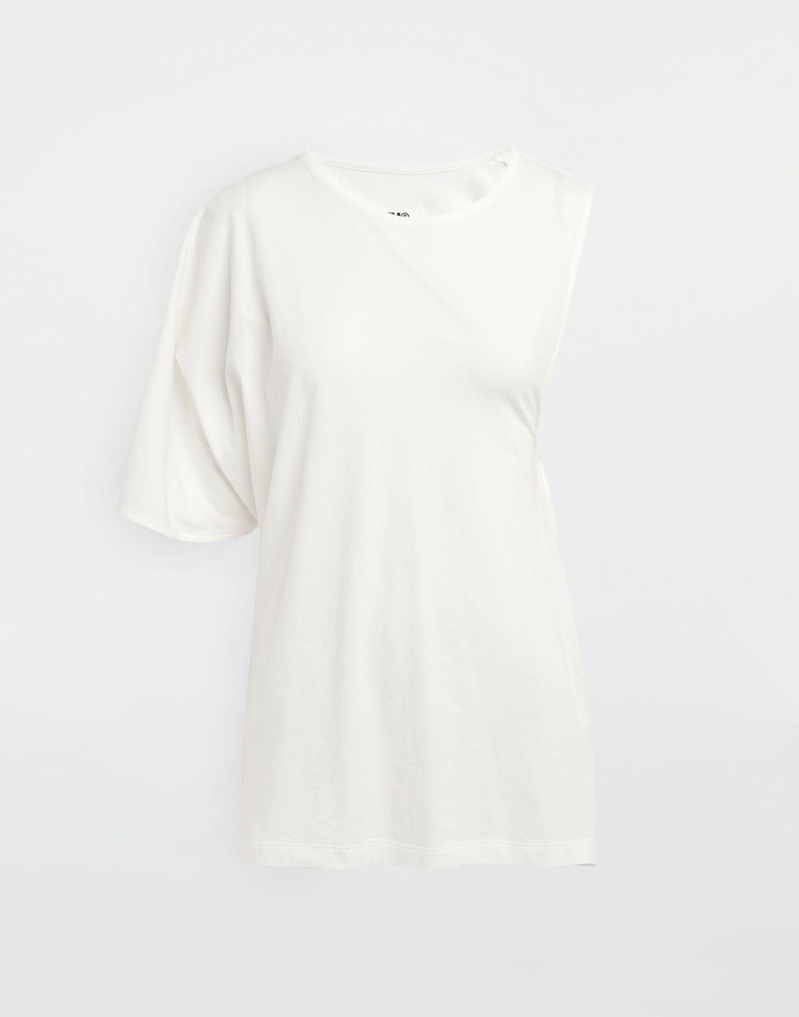 MM6 MAISON MARGIELA Asymmetrical jersey shirt Short sleeve t-shirt Woman f
