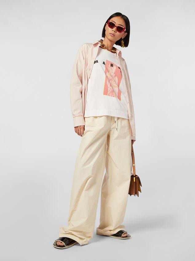 Marni White jersey T-shirt with Avery print Woman - 5