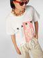 Marni White jersey T-shirt with Avery print Woman - 4
