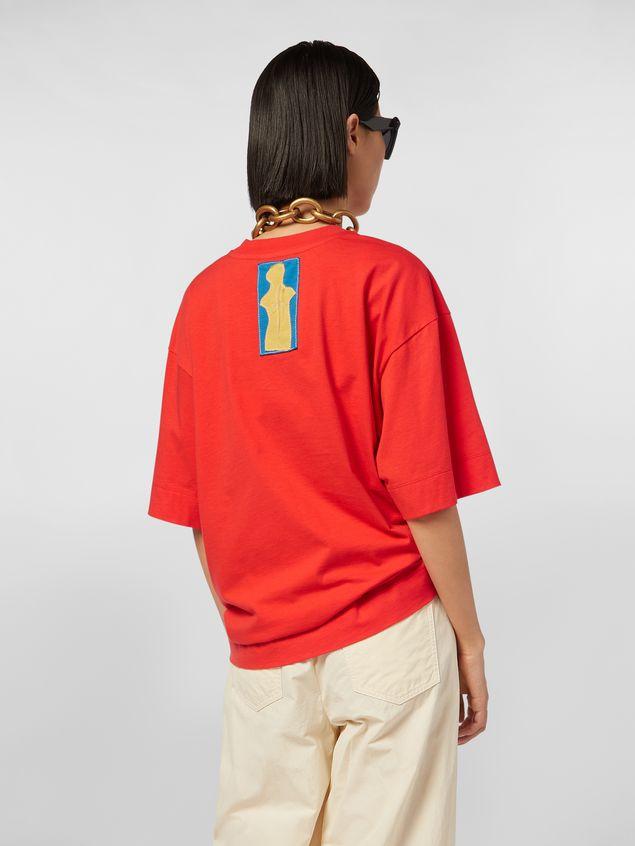 Marni Short-sleeved jersey T-shirt with Marni print Woman