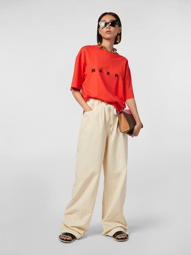 Marni Short-sleeved jersey T-shirt with Marni print Woman - 5