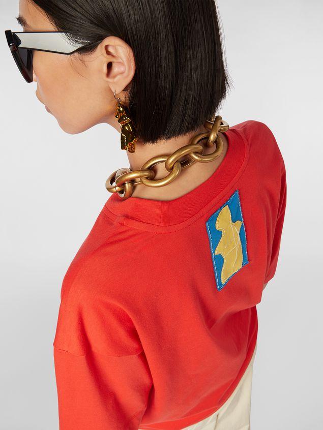 Marni Short-sleeved jersey T-shirt with Marni print Woman - 4