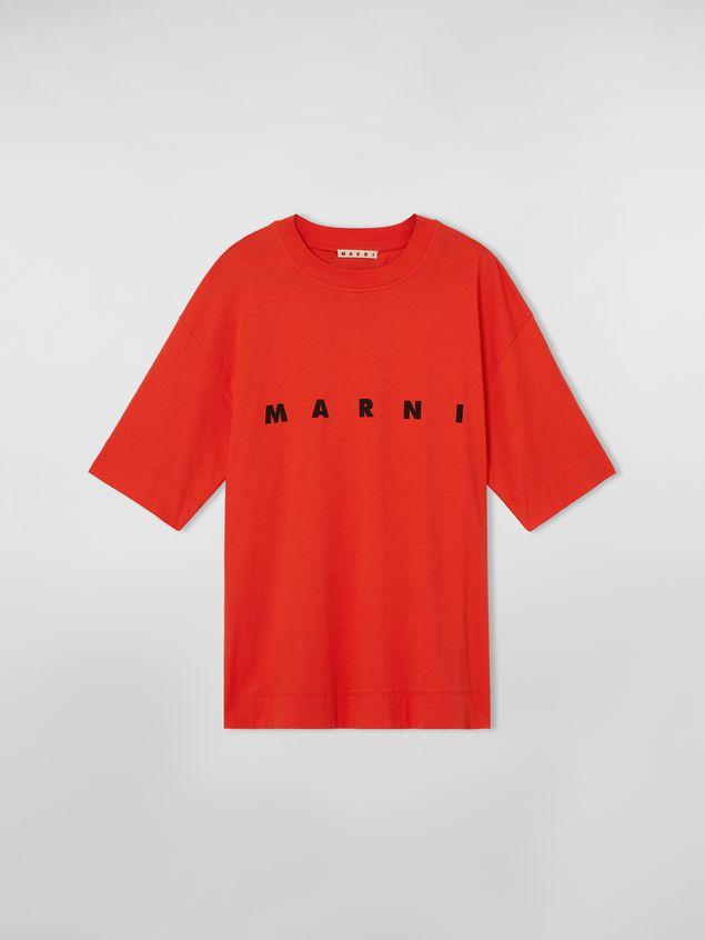 Marni Short-sleeved jersey T-shirt with Marni print Woman - 2