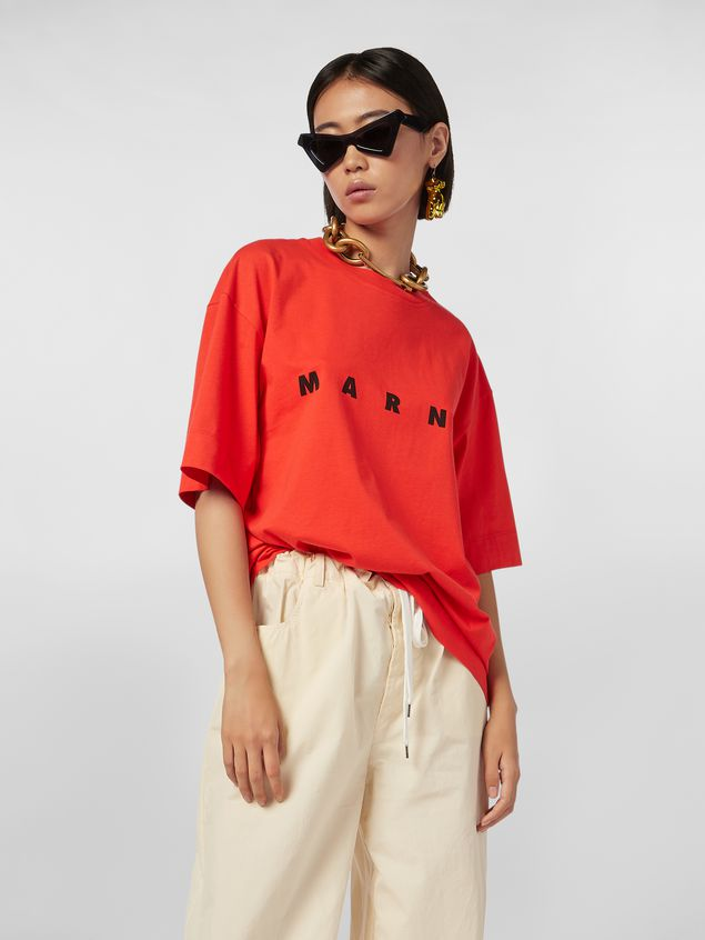 Marni Short-sleeved jersey T-shirt with Marni print Woman - 1