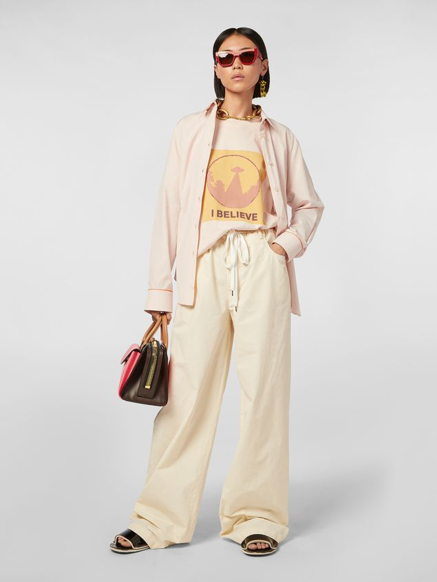 Marni Jersey T-shirt with I Believe print Woman - 5