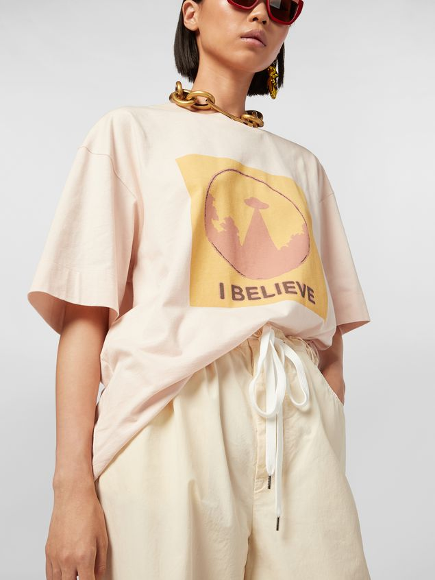 Marni Jersey T-shirt with I Believe print Woman - 4