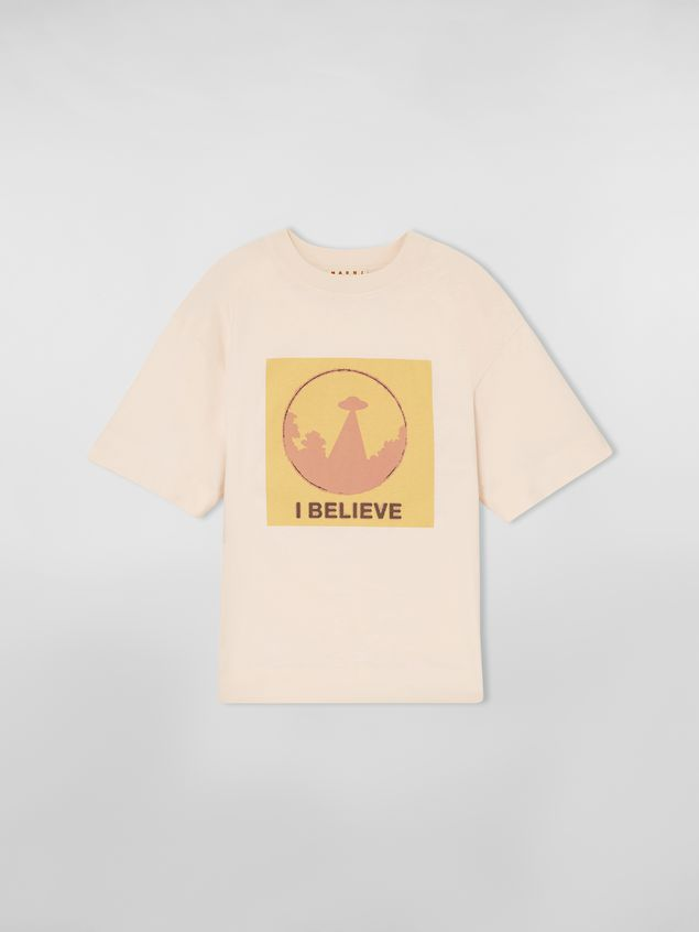 Marni Jersey T-shirt with I Believe print Woman - 2