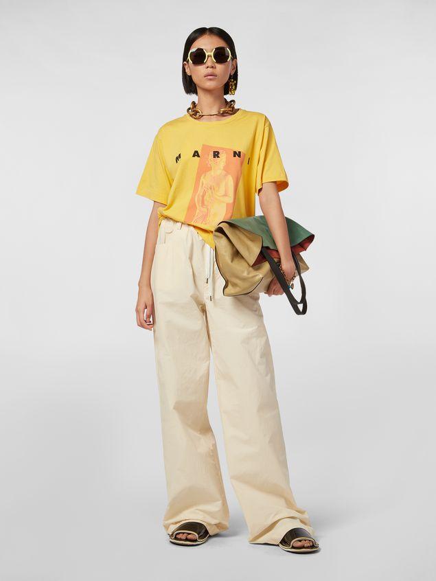 Marni Yellow Jersey T-shirt with Avery print Woman - 5