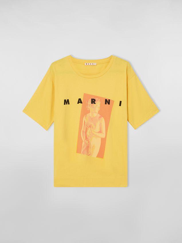 Marni Yellow Jersey T-shirt with Avery print Woman - 2