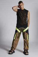 DSQUARED2 Cotton Mesh Tank Top Short sleeve t-shirt Man