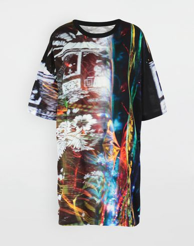 MAISON MARGIELA T-shirt manches courtes [*** pickupInStoreShipping_info ***] T-shirt en jersey avec imprimé Moving Metallics f