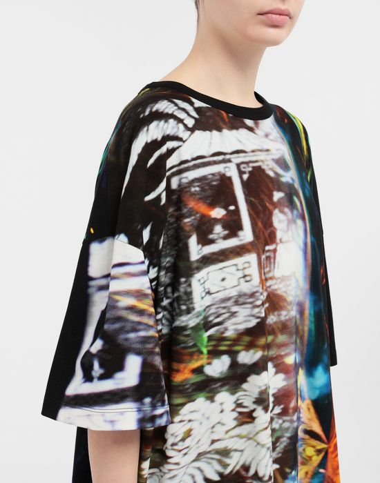 MAISON MARGIELA Moving Metallics-print jersey T-shirt Short sleeve t-shirt [*** pickupInStoreShipping_info ***] a
