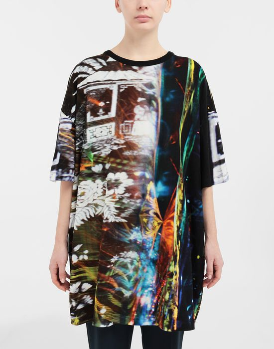MAISON MARGIELA Moving Metallics-print jersey T-shirt Short sleeve t-shirt [*** pickupInStoreShipping_info ***] r