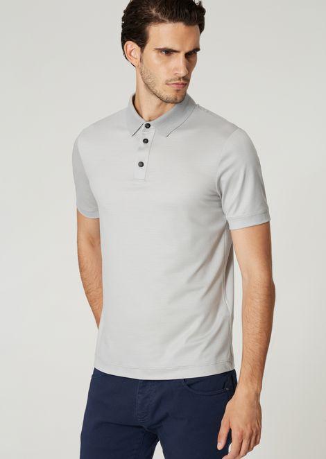Poloshirt mit kurzen Ärmeln aus Woll-Fresko